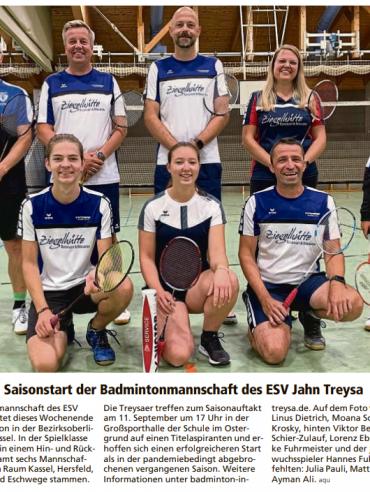 Zeitungsartikel_Saisonauftakt_2021_09_11